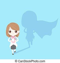 super woman dentist
