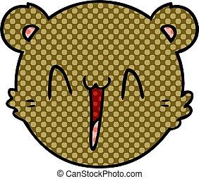 cute cartoon teddy bear face