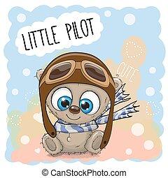 Teddy Bear in a pilot hat