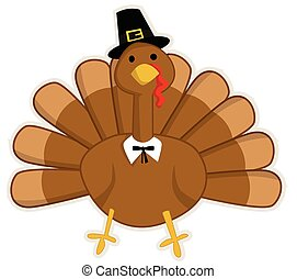 Cute cartoon Thanksgiving turkey