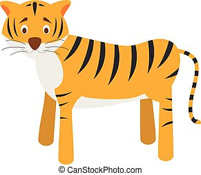 Cute cartoon tiger vector illustration