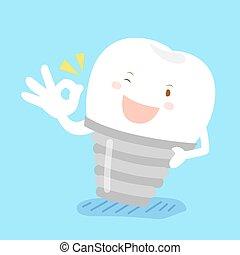 tooth show ok to you - cute cartoon tooth show ok to you