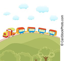cute cartoon train vector illustration