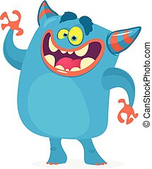 Cute cartoon troll character. Vector monster character for Halloween