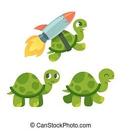 Cute cartoon turtle