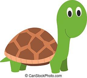 Cute cartoon turtle vector illustration