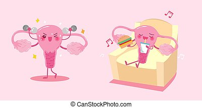 cute cartoon uterus