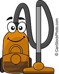 Cute cartoon vacuum cleaner - Cute cartoon domestic vacuum...