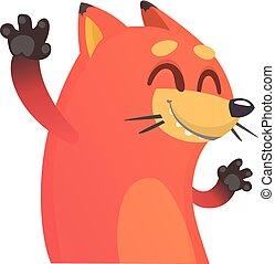 Cute cartoon vector fox.