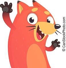 Cute cartoon vector fox