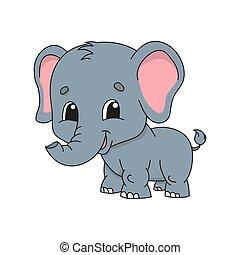 Cute cartoon vector illustration.