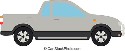 Cute cartoon vector illustration of a car van