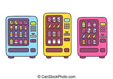 Cute cartoon vending machine