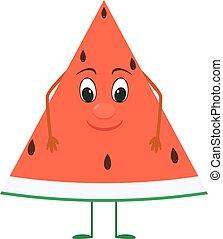 cute cartoon Watermelon with face.