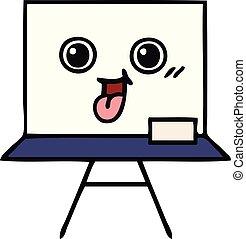 cute cartoon white board