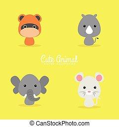 Cute Cartoon Wild Animals