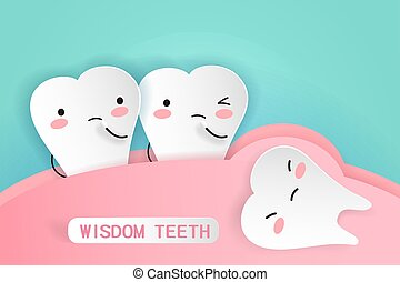 wisdom teeth with health concept
