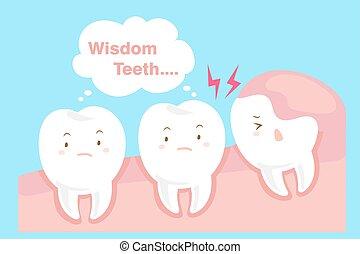 cute cartoon wisdom teeth