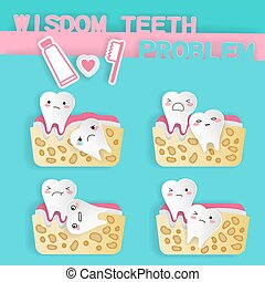cute cartoon wisdom teeth