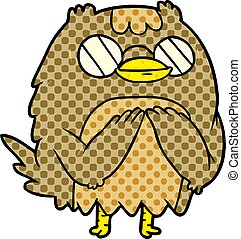 cute cartoon wise old owl
