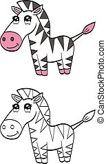 Cute cartoon zebra
