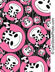 Cute Cartoon Zebra Pattern