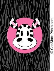 Cute Cartoon Zebra