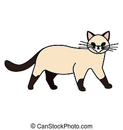cute cat animal isolated icon