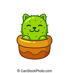 Cute cat cactus