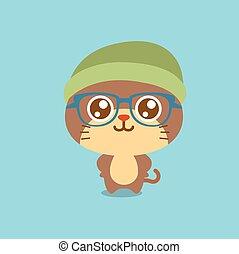 Cute cat character cartoon design