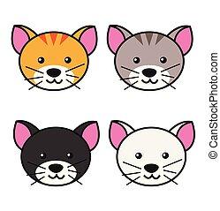 cute cat heads