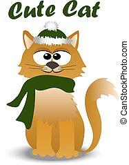 cute cat in hat