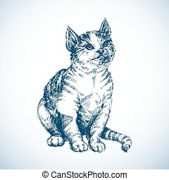 Cute cat sketch