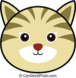 Cute Cat Vector - Cute animal faces in (One of 25 of them).