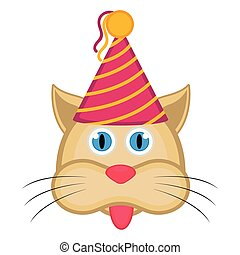 Cute cat with a party hat avatar