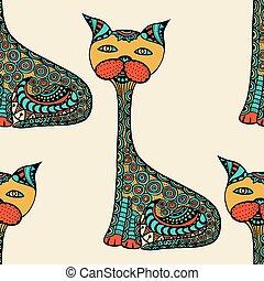 cute, cats., doodle
