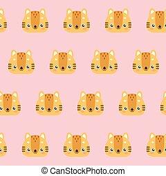 Cute cats pattern.