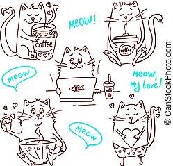 cute cats set 2