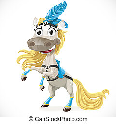cute, cavalo, circo, pernas, hind