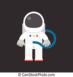 cute character of astronaut, flat design icon