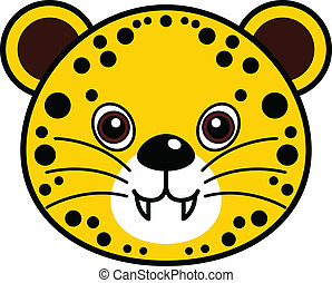 Cute Cheetah Vector - Cute animal faces in (One of 25 of...