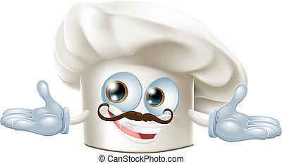 Cute chef hat mascot