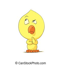 Cute chick character