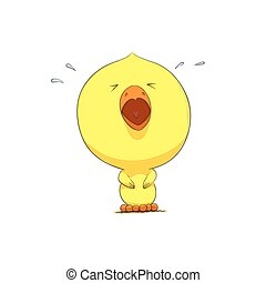 Cute yellow chicken. Cute adorable yellow chicken illustration.