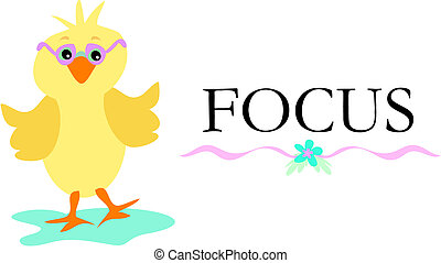 Cute Chick with Glasses and the Word Focus - Here is a cute ...