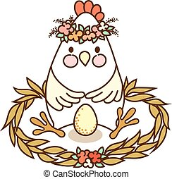 Cute chicken drawing