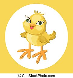 Cute Chicken funny cartoon Vector illustration