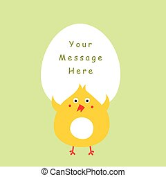 cute chicken message