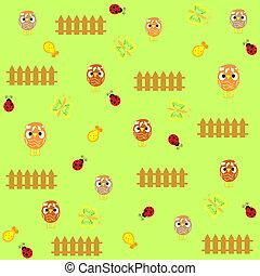 Cute  chicken seamless background p