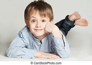 Cute child boy